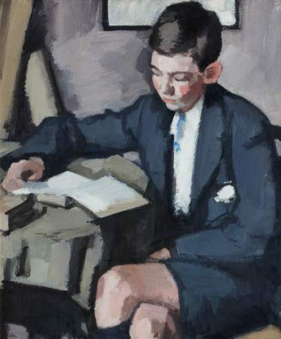 Peploe, Samuel John, 1871-1935; Boy Reading